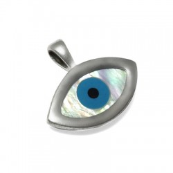 Charm in Argento 925 Occhio 20x23mm