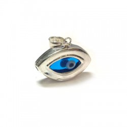Charm in Argento 925 Occhio 23x14mm