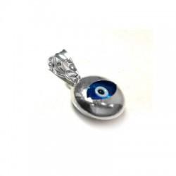 Charm in Argento 925 Rotondo con Occhio 10mm