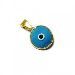 Charm in Argento 925 Rotondo con Occhio 12mm