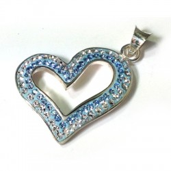 Silver 925 Swarovski Heart 21mm