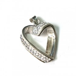 Silver 925 Swarovski Heart 22mm