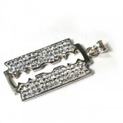 Silver 925 Swarovski Razor 18x38.5mm