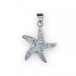 Silver 925 Swarovski Seastar 21mm