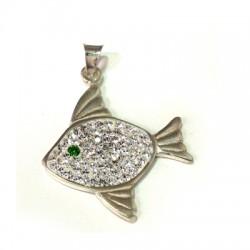 Ασήμι 925 Μοτίφ Ψάρι με Swarovski 27mm