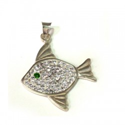 Silver 925 Swarovski Fish 27mm