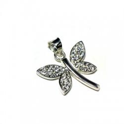 Silver 925 Swarovski Dragonfly 22mm