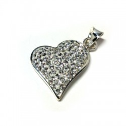 Silver 925 Swarovski Heart 15mm