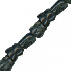 Κοράλι Μπαμπού Χάντρα Ακανόνιστη (~15x17mm) (~28τμχ/κορδόνι)