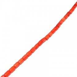 Coral Bamboo Irregular Tubes 4x5mm(40cm length-approx.75pcs/str)
