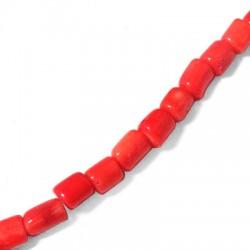 Κοράλι Μπαμπού Σωληνάκι Ακανόνιστο (~8.5x10mm)(~39τμχ/κορδ.)