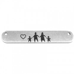 Brass Tag with Engraved Family 35x6mm (Ø 1.2mm)