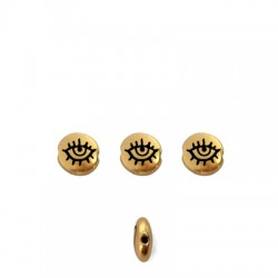Zamak Bead Round Eye 7.6mm/3.3mm (Ø1.1mm)