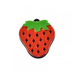 Pendentif fraise en Plexiacrylique 29x36mm