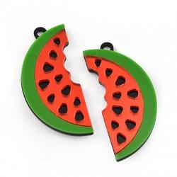 Plexi Acrylic Pendant Watermelon 21x45mm