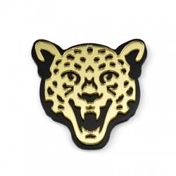 Plexi Acrylic Pendant Tiger Head 41x40mm