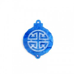 Plexi Acrylic Pendant Asian Style Lantern 27x29mm
