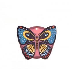 Pendentif Papillon en Plexiacrylique 40x36mm