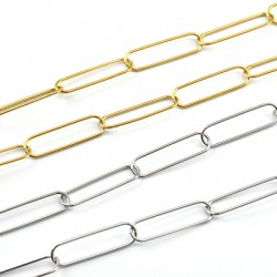 Stainless Steel 304 Paperclip Chain 27x7.5mm/1mm