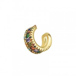 Brass Ear Cuff w/ Zircon 13x14mm/6mm
