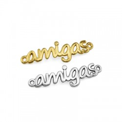 """Brass Connector """"Amigas"""" for Macrame 29x10mm"""