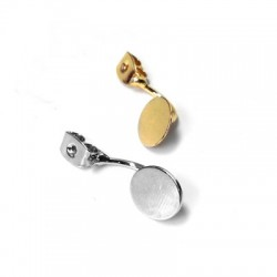 Brass Earring with Round Base 9mm