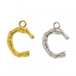 "Brass Charm Letter ""C"" 10x13mm"