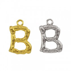 "Brass Charm Letter ""B"" 10x13mm"