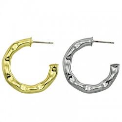Brass Earring Hoop 30mm