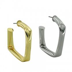 Brass Earring Square Hoop 42mm/5mm