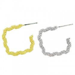Brass Earring Square Hoop 22mm