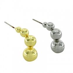 Brass Earring Irregular 24x11mm