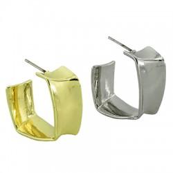 Brass Earring Square Hoop 18mm