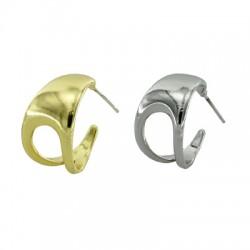 Boucle d'oreilles en Métal/Laiton 11x19mm