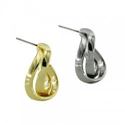 Boucle d'oreilles en Métal/Laiton 16x25mm
