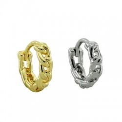 Brass Earring Chain Hoop 12mm