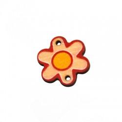 Ξύλινο Στοιχείο Λουλούδι για Μακραμέ 20x18mm