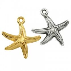 Zamak Charm Starfish 17x16mm