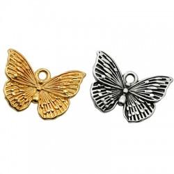 Zamak Charm Butterfly 17x14mm
