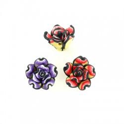 Mosaic Slider Flower Rose 15mm