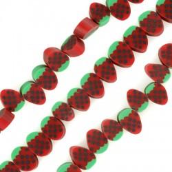 Mosaic Slider Fruit Strawberry 10mm (~50pcs/string)