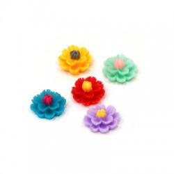 Resin Flatback Flower 14mm
