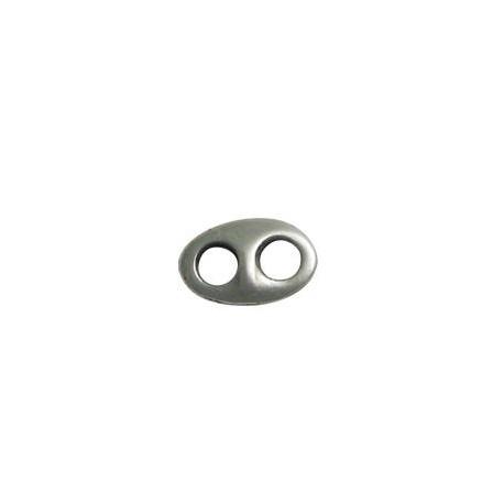 Intercalaire ovale en Métal/Zamac, 11x18mm