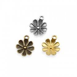 Μεταλλικό Ζάμακ Χυτό Μοτίφ Λουλούδι 12mm