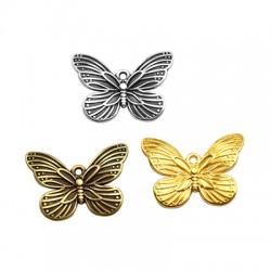Pendentif papillon en Métal/Zamak 22x16mm