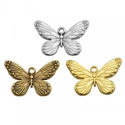 Pendentif papillon en Métal/Zamak 30x20mm