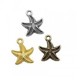 Zamak Charm Starfish 15mm
