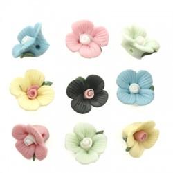 Πορσελάνινο Στοιχείο Λουλούδι Περαστό 15mm