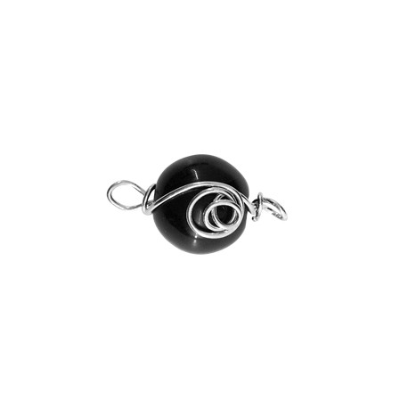 Glass Pendant With Wire Ball 16mm