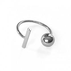Μεταλλικό Ορειχάλκινο (Μπρούτζινο)Δαχτυλίδι Μπίλια Μπάρα21mm